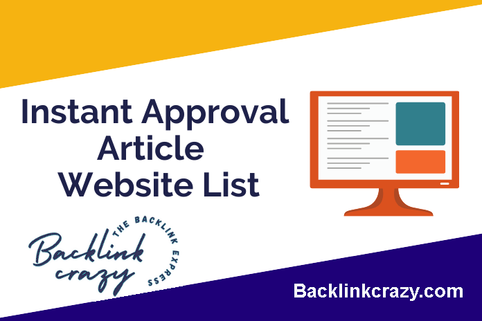 Instant Article Submission Site List
